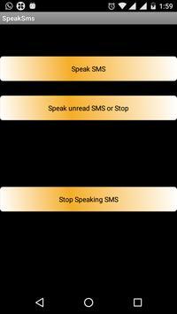 Speak SMS poster