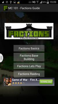 MC 101 - Factions Guide screenshot 2