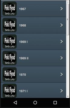 Pink Flyod Lyrics apk screenshot