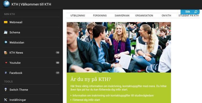KTH webmail & schema apk screenshot