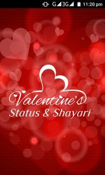 Valentine Status and Shayari poster