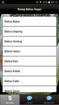 Resep Bakso Super screenshot 1