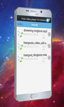 Free video player For Android apk screenshot