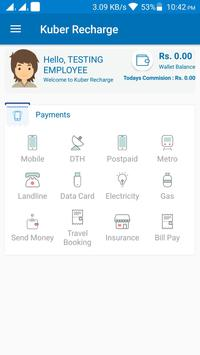 Kuber Recharge screenshot 1