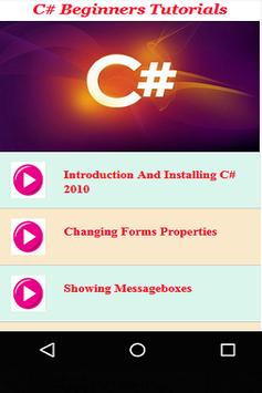 C# Beginners Tutorials apk screenshot