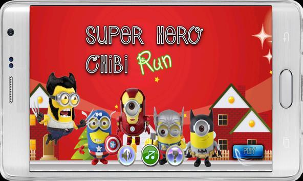 SuperHero Chibi RUN poster