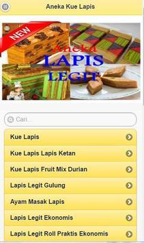 Various Layer Cake Recipe apk screenshot