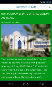 University of Kufa apk screenshot