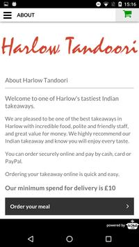 Harlow Tandoori Indian apk screenshot