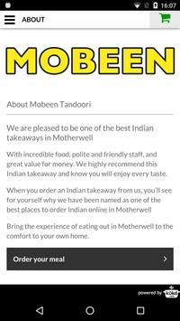 Mobeen Tandoori Indian apk screenshot