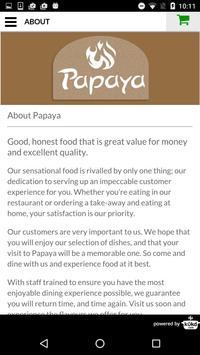 Papaya Indian Takeaway apk screenshot