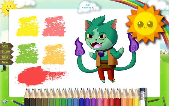 Coloring Book Youkai watch apk screenshot