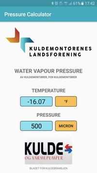 Water vapour pressure calculator poster