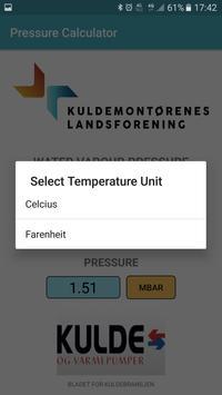 Water vapour pressure calculator screenshot 2