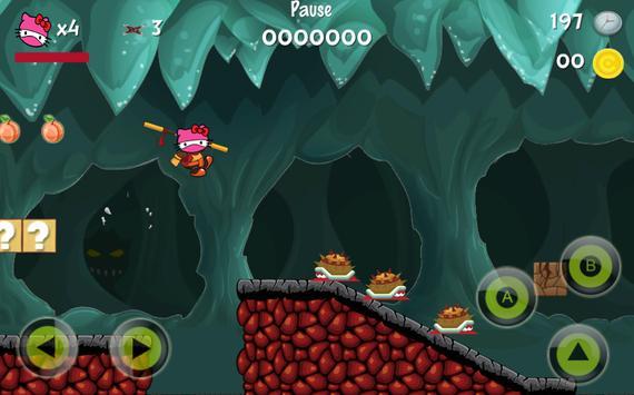 Ninja Helo Kity Hero Adventure screenshot 1