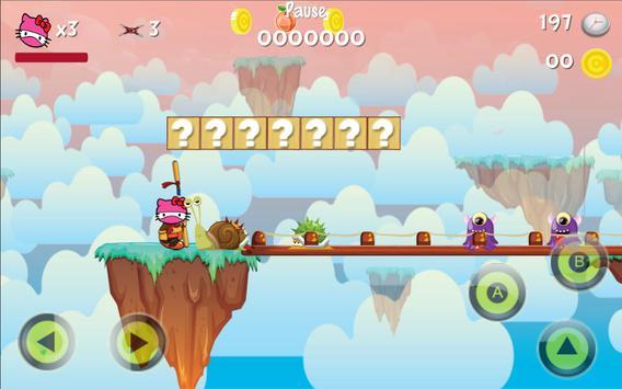 Ninja Helo Kity Hero Adventure screenshot 2