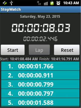 Stopwatch screenshot 1