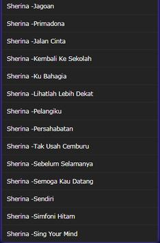 collection of Complete Sherina Songs screenshot 4
