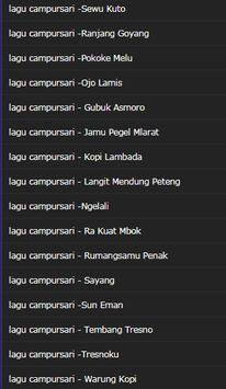 collection of the most popular campursari screenshot 2