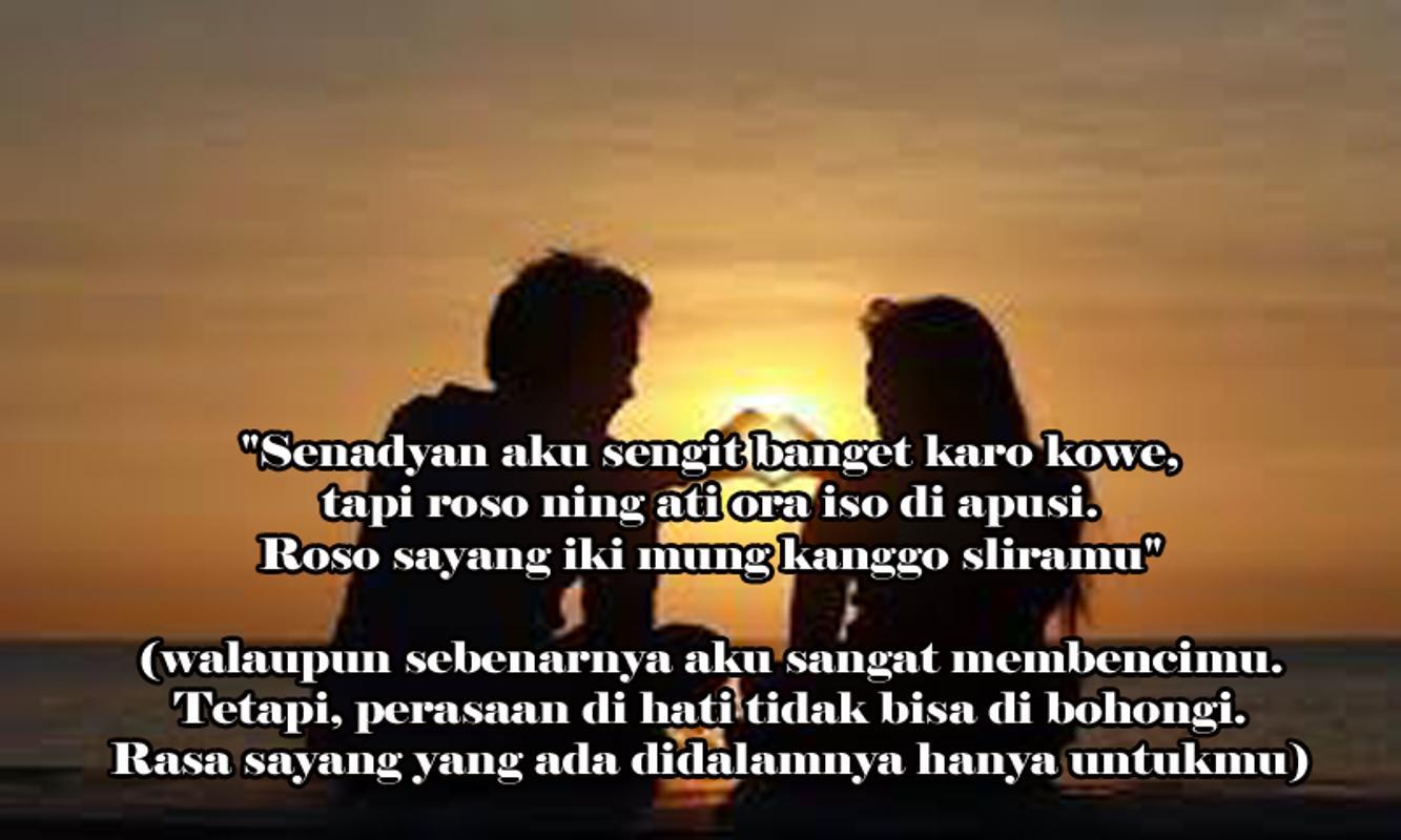 Caption Wa Jowo Romantis Nusagates