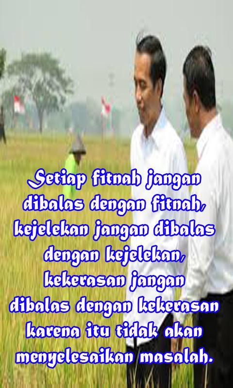 Kumpulan Kata Kata Penuh Makna Jokowi Lengkap Für Android
