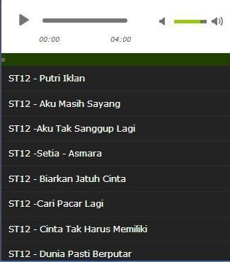 St12 putri iklan (karaoke version + lyrics) no vocal #sunziq.