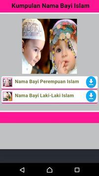 Kumpulan Nama Bayi Islam poster