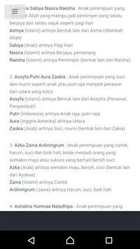 Kumpulan Nama Bayi Islam screenshot 2