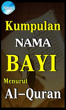 KUMPULAN NAMA BAYI MENURUT AL-QURAN TERLENGKAP poster