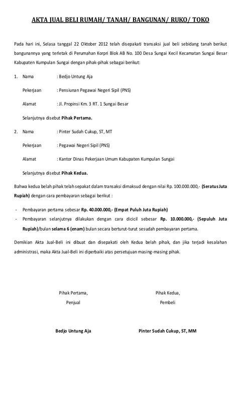 Kumpulan Surat Perjanjian Jual Beli Lengkap For Android
