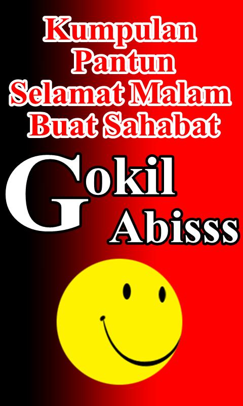 Pantun Selamat Malam Buat Sahabat Gokil Abisss Poster