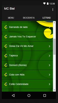 Mc Biel Química Musica Letras screenshot 1