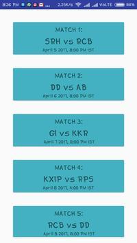 Latest Schedule of IPL apk screenshot