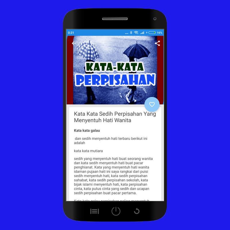 Kumpulan Ratusan Kata Kata Perpisahan Tersedih For Android Apk