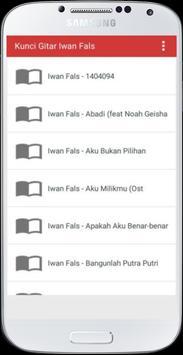 Kunci Gitar Iwan Fals apk screenshot