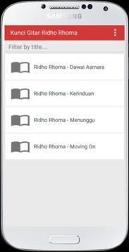 Kunci Gitar Ridho Rhoma apk screenshot