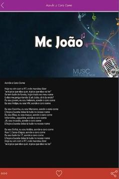 MC João Letras Hits apk screenshot