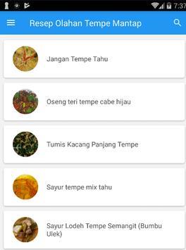 Resep Olahan Tempe Mantap screenshot 3