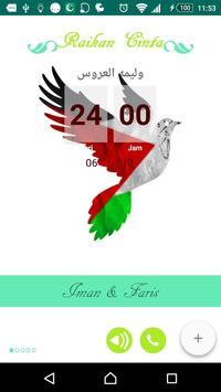 Raikan Cinta Iman Faris poster