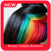 Beauty Hidden Rainbow Hairstyles icon