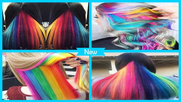 Beauty Hidden Rainbow Hairstyles screenshot 3