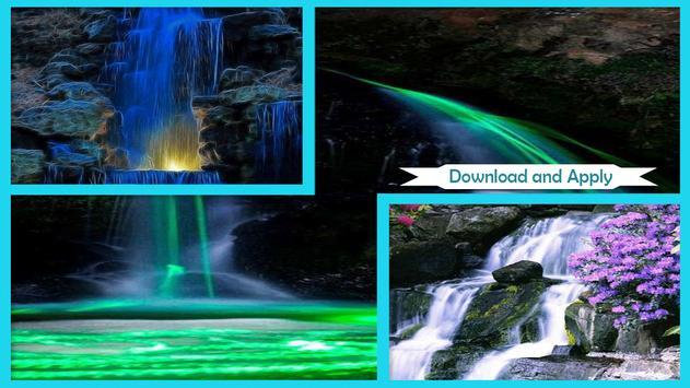 Neon Waterfalls Live Wallpaper apk screenshot
