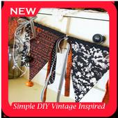 Simple DIY Vintage Inspired Halloween Banner icon