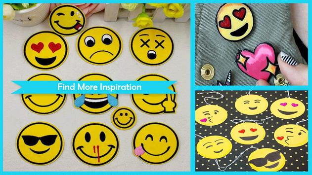 Simple DIY Emoji Patches poster