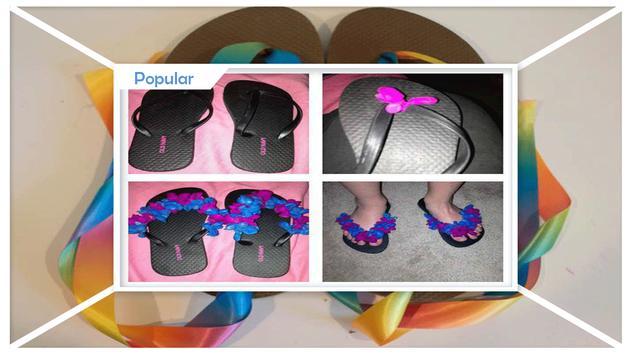 Simple DIY Ribbon Flip Flops apk screenshot