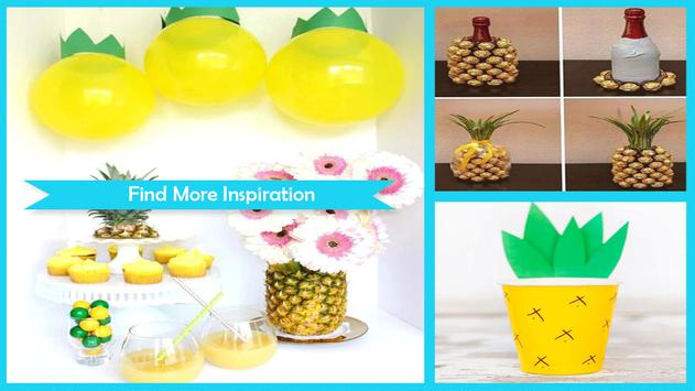 Summer DIY Pineapple Pinecone Ornaments poster