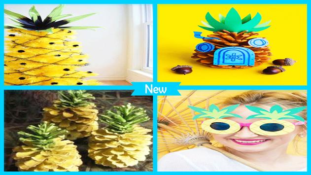 Summer DIY Pineapple Pinecone Ornaments apk screenshot