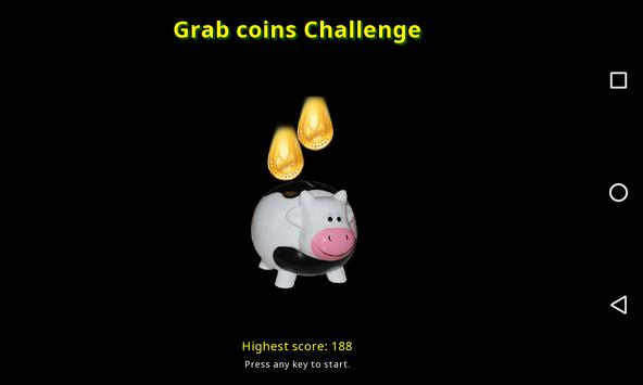 Grab coins challenge poster