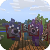 Colorful Mutant Wolves addon for MCPE icon