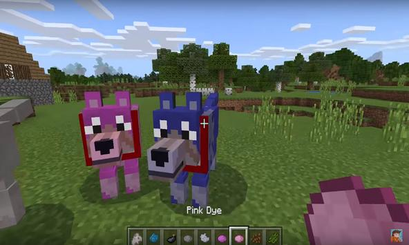 Colorful Mutant Wolves addon for MCPE poster